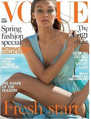 Vogue UK Magazine March 2017 - Spring Fashion Special featuring Gigi Hadid