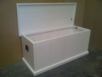 1200 mm Solid Pine Blanket Box in White