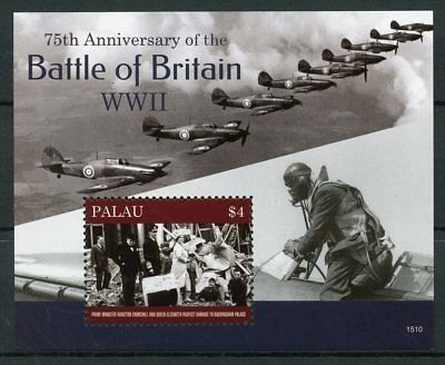 Palau 2015 MNH Battle of Britain 75th WWII 1v S/S Winston Churchill Queen Stamps