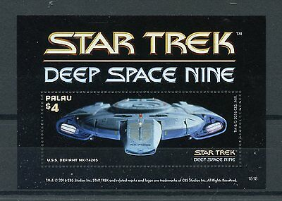Palau 2015 MNH Star Trek Deep Space Nine 1v S/S USS Defiant Spaceships Stamps