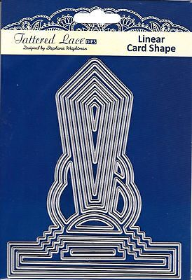 New Tattered Lace 'ART DECO LINEAR CARD SHAPE' DIE - TLD0013 - FREE UK P&P
