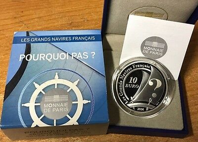 France 2014 Pourquoi pas ? 10 euro Silver Proof - Francia € silber argent