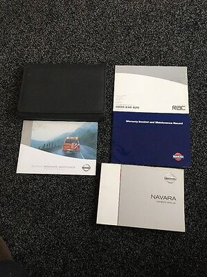 Nissan Navara D40 Owners Manual Handbook Hand Book Wallet with Warranty