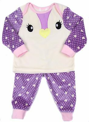 Baby Girl Outfit Jogger Set Velour Birdie Theme Set 100% Polyester 9-12M to 2-3Y