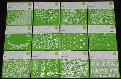 "Kaisercraft '6X6"" DESIGNER TEMPLATE' (Choose from 16 designs) Stencil NEW"