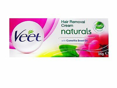 Veet Naturals Hair Removal Cream with Camellia Seed Oil, Sensitive Skin - 25 g