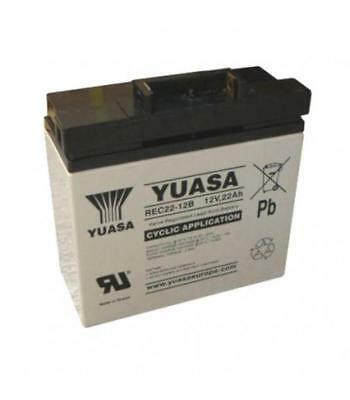 Yuasa 22Ah Golf Trolley Battery with T-Bar fitting, suitable for Powerkaddy