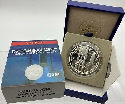 France 2014 Europa Space Agency 10 euro Silver Proof - Francia argent € silber