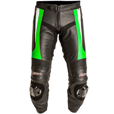 RST Blade Green Leather Motorcycle Motorbike Sports Race Trousers Pants