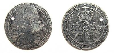 GREAT BRITAIN 17th CENTURY SILVER MEDAL / TOKEN IN THE STYLE OF SIMON DE PASSE