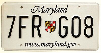 """Maryland 2009 """"State Shield"""" License Plate, 7FR-G08, High Quality"""