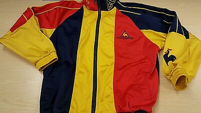 Le Coq Sportif Tracksuit Top Jacket Retro 80s small mens vintage style.