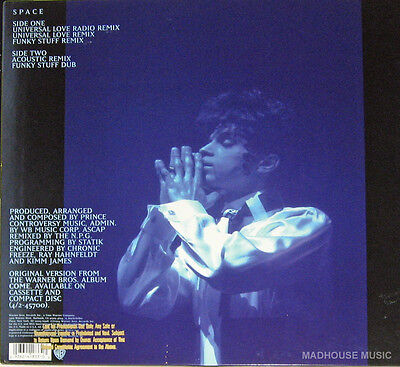 """PRINCE 12"""" Space 5 MIX USA Gold Embossed PROMO in Picture Slv. USA ONLY New UNPL"""