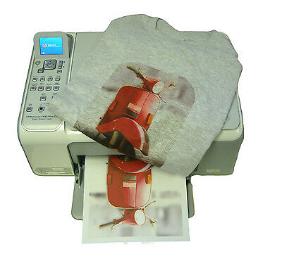 50 A4 Sheets T-Shirt Heat Transfer Paper for Light & Dark Fabrics -Laser Printer