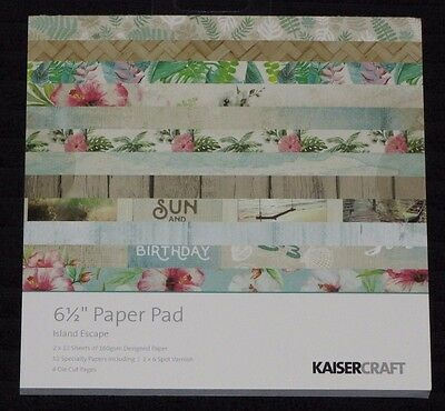 "Kaisercraft 'ISLAND ESCAPE' 6.5"" Paper Pad Holiday/Beach/Vacation KAISER *NEW*"