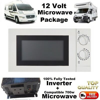 Camper Motorhome Microwave 12v With Compatible 1500w inverter 12 Volt SELF BUILD