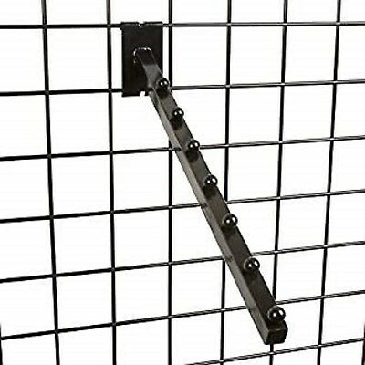 Only Hangers 7 Ball Waterfall Square Tube Black For Grid Pack Of 10