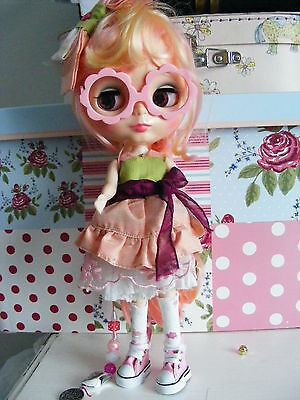 Factory Blythe doll with custom eyes and outfit
