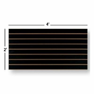 NEW Slatwall Easy Panels, Set of 2 PIECES, 2' H x 4' W Black FREE SHIPPING