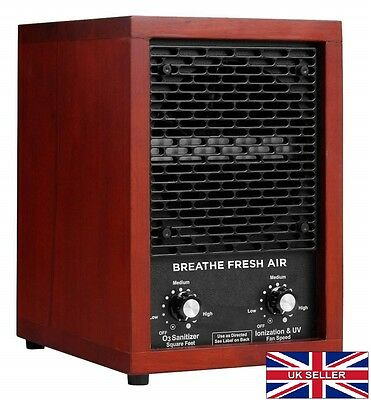Air Purifier w/ Ioniser & HEPA. For Allergies, Smells, Pet, Cigarette Smoke