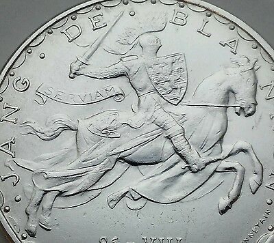 Luxembourg 100 Francs ND (1946). KM#49. Silver Crown coin. John Blind. UNC. MS66