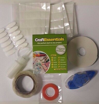 2 x U-Craft Essential Adhesive Glue Roller Clear Tape Foam Tape Dots VELCROÂ« PV