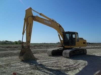 John Deere 200C LC Crawler Excavator; Auxiliary Hydraulics; 9005 HRS