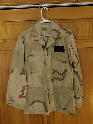US Modified DCU Three Color Desert Camo BDU Jacket, Size Small Regular