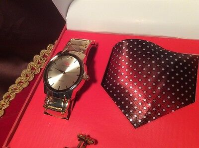 Charles Raymond Men's Accessory Boxed Set  - Watch - Tie - Cuff Links