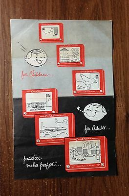 Vintage Etch A Sketch Toy Original Paper Insert The Ohio Art Company Bryan, OH