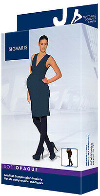 SIGVARIS 841 Soft Opaque MATERNITY Compression Pantyhose - Closed Toe 15-20mmHg