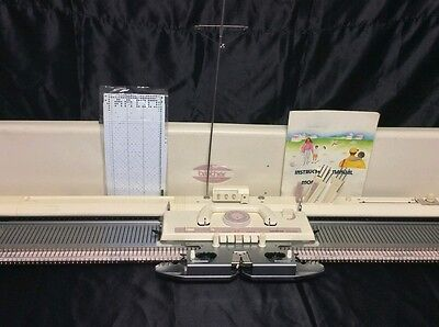 Brother knitting machine kh 260 chunky punchcard serviced prestine white