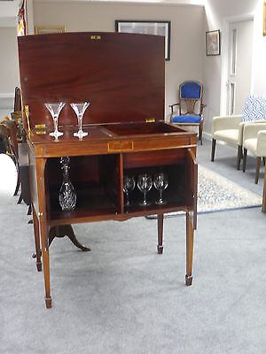 Stunning Marquetry inlaid antique drinks cabinet