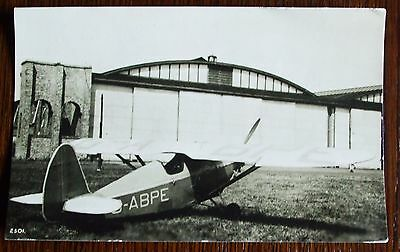 """Old aeroplane real photo postcard style picture - Comper """"Swift"""" c1930"""