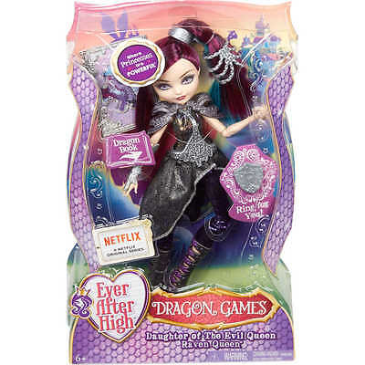 Ever After High Dragon Games Raven Queen Doll - Brand New
