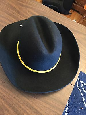 BLACK Civil War Cavalry Western Style Cowboy Hat New Free Shipping