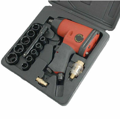 """Air Impact Wrench 1/2"""" Drive 230ft-lbs With impact Sockets Free Delivery CT0680"""