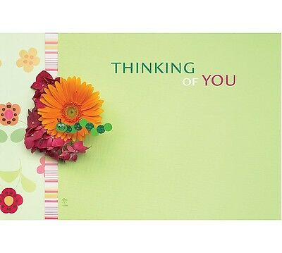 "50ct. ""Thinking of You"" Daisy Flowers Blank Florist Enclosure Cards Small Tags"