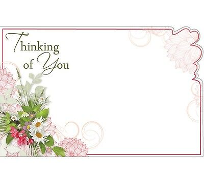 "50ct ""Thinking of You"" Bouquet Flowers Blank Florist Enclosure Cards Small Tags"