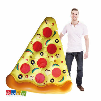 Maxi Materassino Gonfiabile PIZZA trancio Piscina Mare Vacanze Party Inflatable