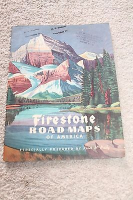 1946 FIRESTONE ROAD MAP OF AMERICA Atlas Rand McNally