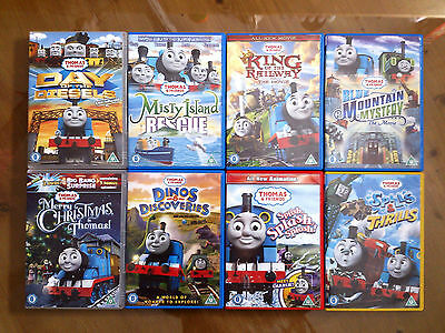 Hit Thomas The Tank Engine / Thomas And Friends 8 + 1 DVDs Bundle / Job Lot (A)