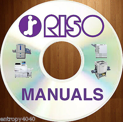NEWEST, BEST & BIGGEST RISO Duplicator Copier SERVICE MANUALS - MZ EZ EV on DVD