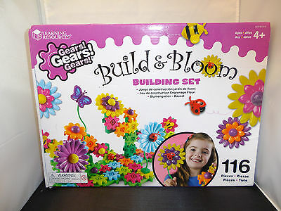 Learning Resources Gears! Gears! Build and Bloom Flower Garden Building Set NEW