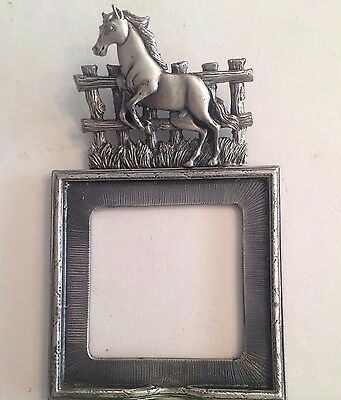 Horse Themed Pewter Wallet Sized Picture Frame
