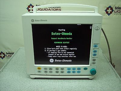 Datex-Ohmeda S/5 Type F-CM1-04 Monitor Without Modules