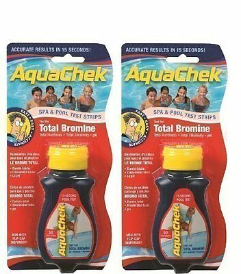 Happy Hot Tubs 2 Pack Red Bromine Aquachek Pool & Spa Test Strips Total PH Quick