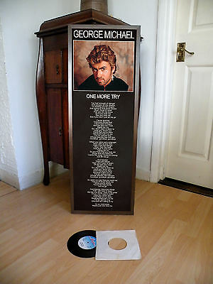 George Michael One More Try Poster Lyric Sheet,wham,pop,rock,careless Whisper