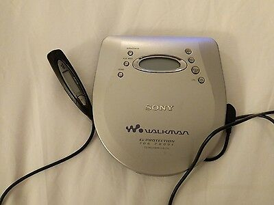 Sony Walkman D-EJ725 Personal Portable CD Player Jog Proof G Protection