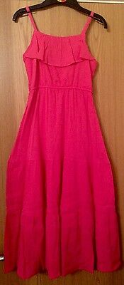 New Girls Long Ex FaMouS High St Summer long  Pink Dress Age 13-14 years